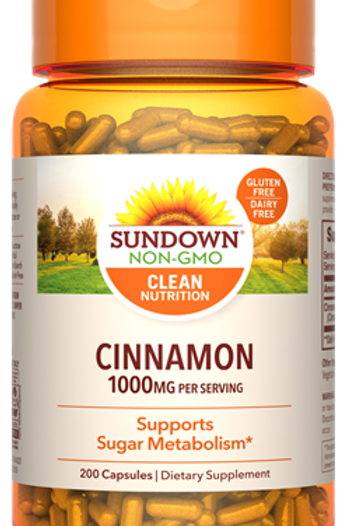 Sundown Cinnamon 1000mg Capsules 200ct