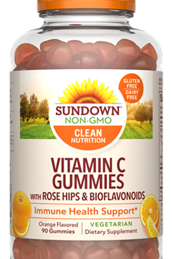 Sundown Vitamin C Gummies with Rose Hips & Bioflavonoids 90ct