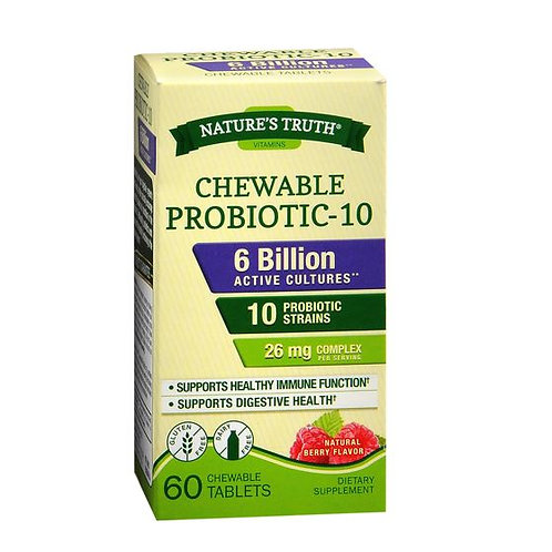Chewable Probiotic - 6 Billion Active Cultures - 60 Chews