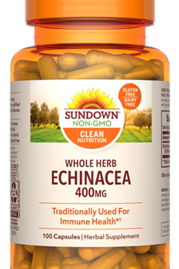 Sundown Echinacea 400mg Capsules 100ct