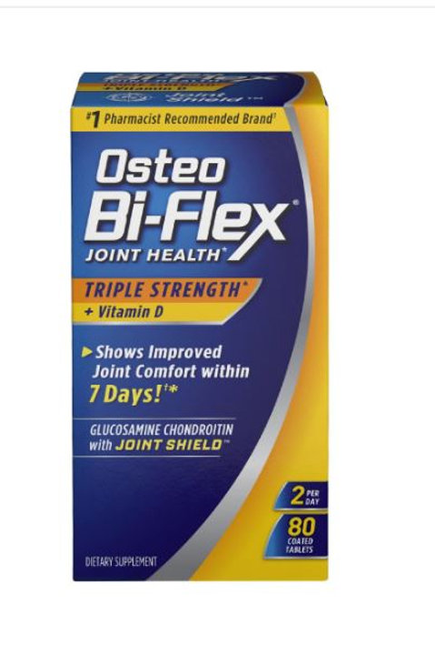 Osteo Bi-Flex Triple Strength + Vitamin D Tablets 80ct
