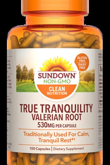 Sundown Valerian Root 530mg Capsules 100ct