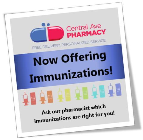 now offering immunizations