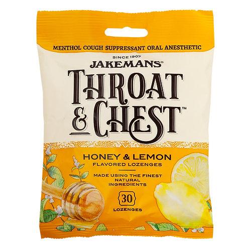Jakemans Throat & Chest Lozenges - Honey & Lemon