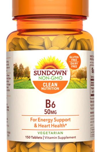 Sundown Vitamin B6 50mg Tablets 150ct