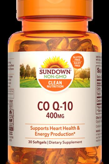 Sundown Co Q-10 400mg Softgels 30ct