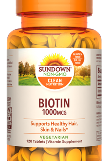 Sundown Biotin 1000mcg Tablets 120ct