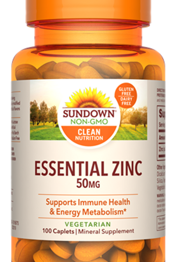 Sundown Zinc 50mg Caplets 100ct