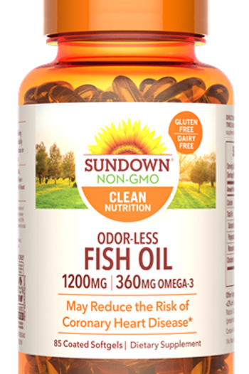 Sundown Odor-less Fish Oil 1200mg Softgels 85ct