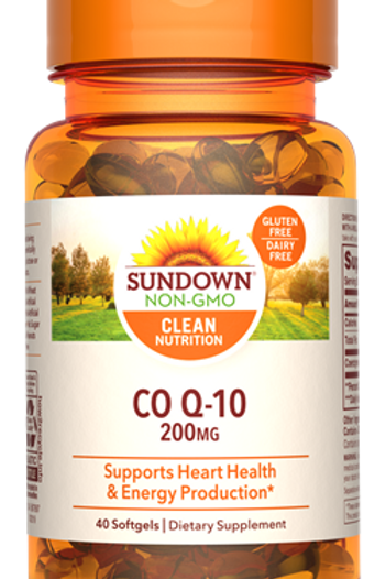 Sundown Co Q-10 200mg Softgels 40ct