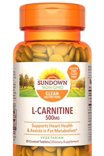 Sundown L-Carnitine 500mg Coated Tablets 30ct