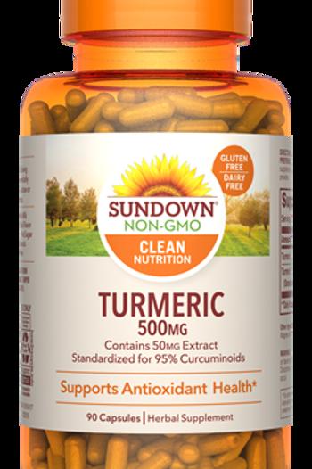 Sundown Turmeric 500mg Capsules 90ct