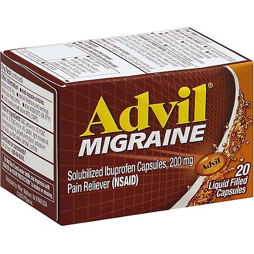 Advil Migraine Liquid Filled Capsules 20ct