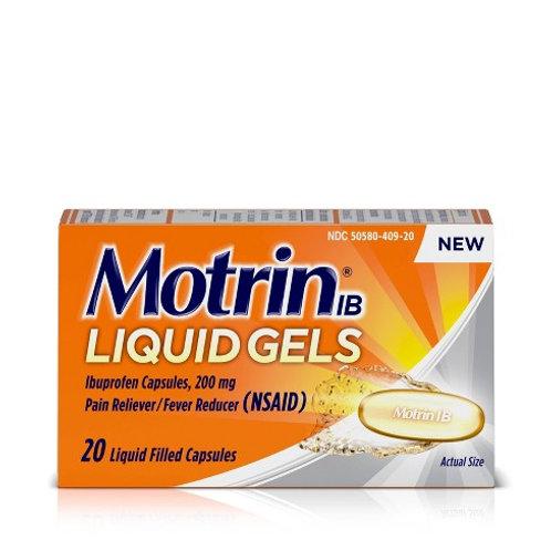 Motrin Liquid Gels 20ct