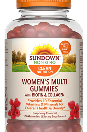 Sundown Women's Multi Gummies with Biotin & Collagen 60ct