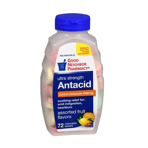 Antacid Assorted Fruit Chewable Tablets 72ct