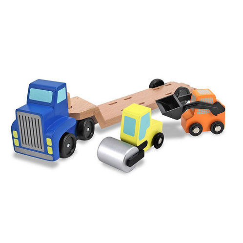 Melissa & Doug Low Loader Wooden Vehicles