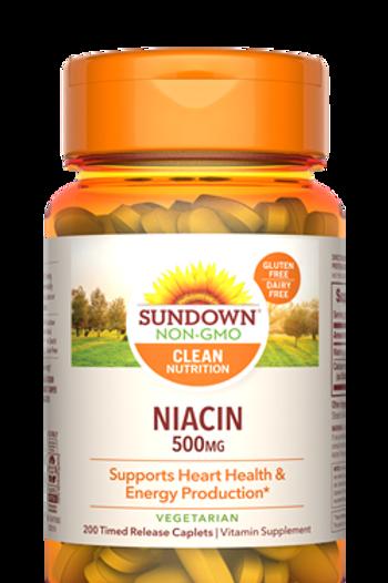 Sundown Niacin 500mg Time Release Caplets 200ct