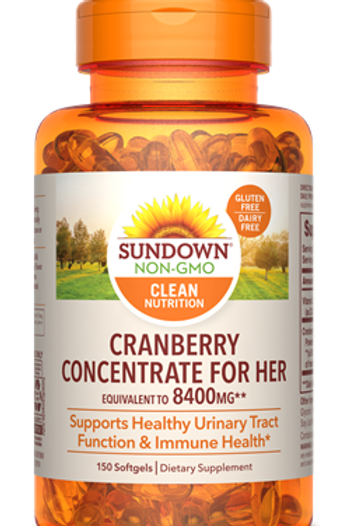 Sundown Cranberry Concentrate for Her Softgels 150ct