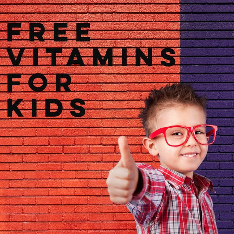 free vitamins for kids!