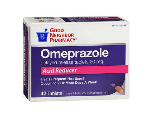 Omeprazole 20mg Tablets 42count