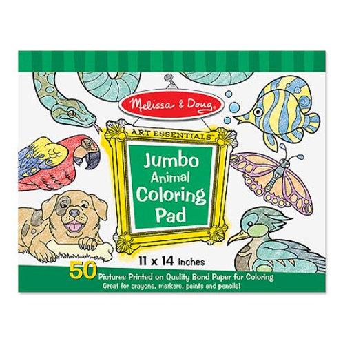 Melissa & Doug Jumbo Animal Coloring Pad
