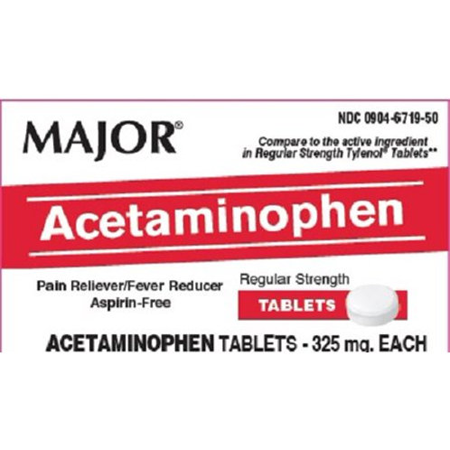 Acetaminophen 325mg Tablets 50ct