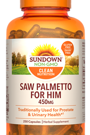Sundown Saw Palmetto 450mg Capsules 250ct
