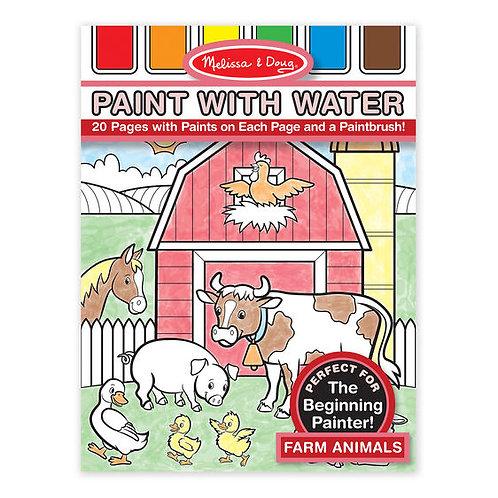 Melissa & Doug Paint with Water Farm Animals