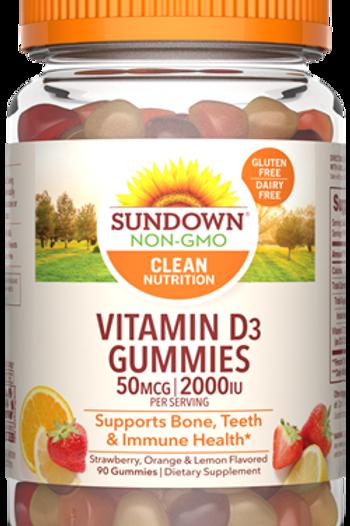 Sundown Vitamin D3 2000IU Gummies 90ct