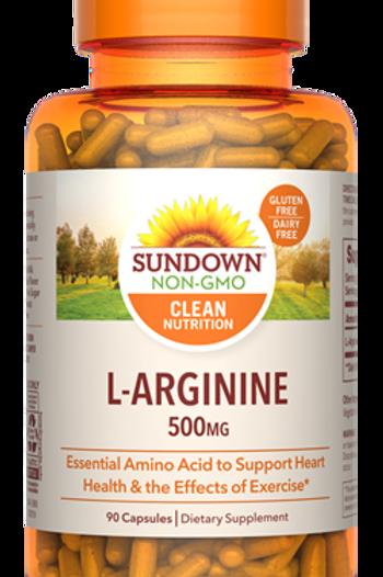 Sundown L-Arginine 500mg Capsules 90ct