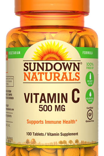 Sundown Vitamin C 500mg Tablets 100ct