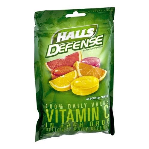 Halls Defense Assorted Citrus Drops - 30 drops