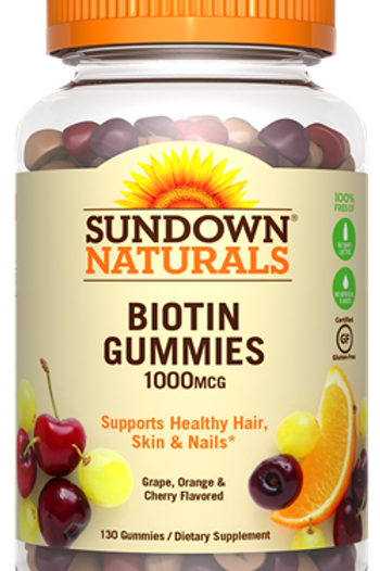 Sundown Biotin 1000mcg Gummies 130 ct