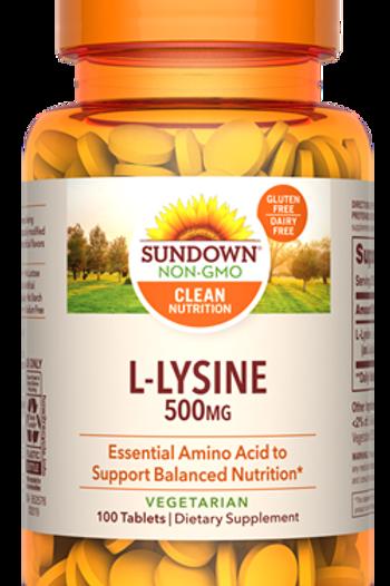 Sundown L-Lysine 500mg Tablets 100ct