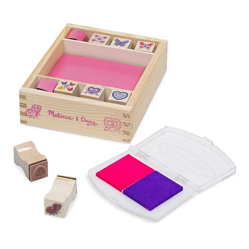 Melissa & Doug Butterflies and Hearts Stamp Set