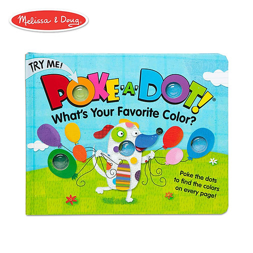 Melissa & Doug Poke-A-Dot Book - What's Your Favorite Color?