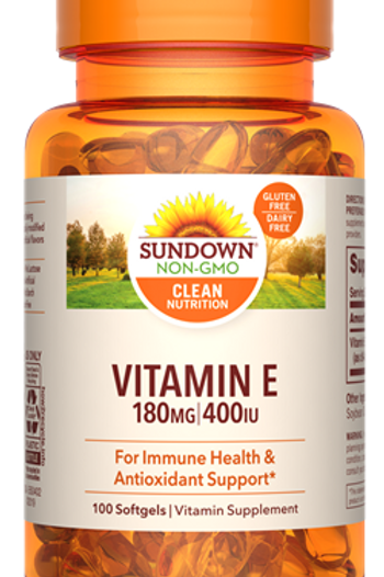 Sundown Vitamin E 400IU Softgels 100ct
