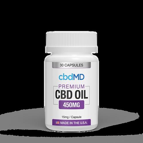 cbdMD 450mg CBD Oil Capsules - 30ct