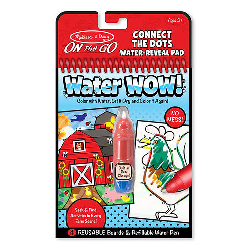 Melissa & Doug Water Wow Farm Connect the Dots Water-Reveal Pad