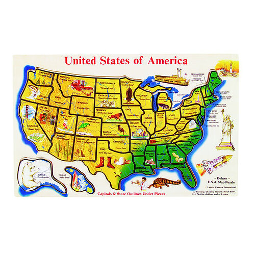 Melissa & Doug USA Map Puzzle