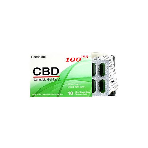 Canabidol 100mg Gel-Tabs (10 x 10mg)
