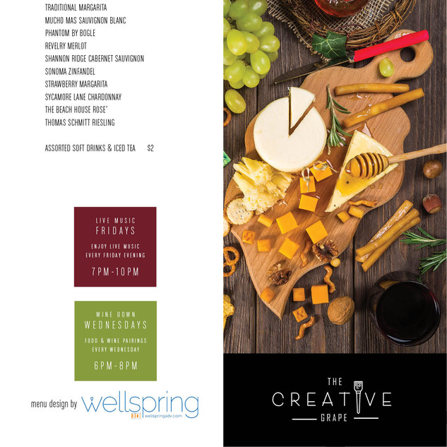 Creative Grape Menu A