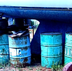 Love the colors of these barrels