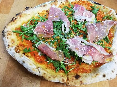 Pizza Rucola en Parmaham