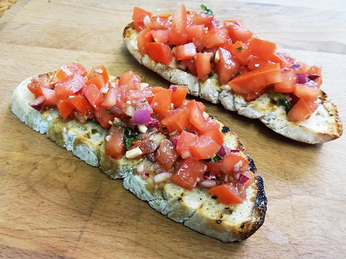 Bruschetta tomaat Ui