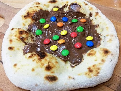 Pizza Nutella M&M's