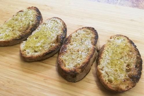 Bruschetta Knoflook en olijfolie