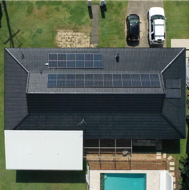 Solar aerial shot