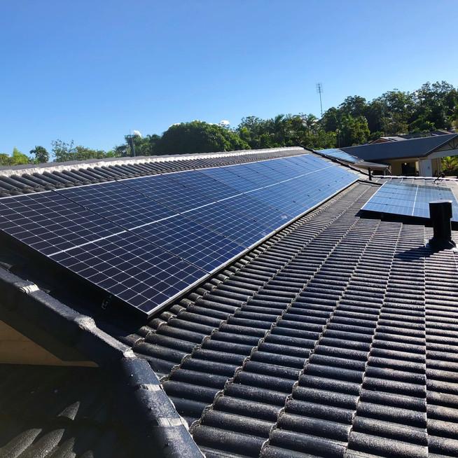 Solar on home roof Sunshine Coast